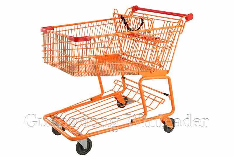 YLD-CT180-2FB Canadian Shopping Trolley Shopping Trolley, Anti-static Wheels Shopping Trolley,Canadi