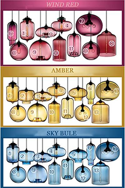 IndusModern Niche Glass Pendant Lamp Fashion Pendant Light art bar lamps Italy designtrial style pen