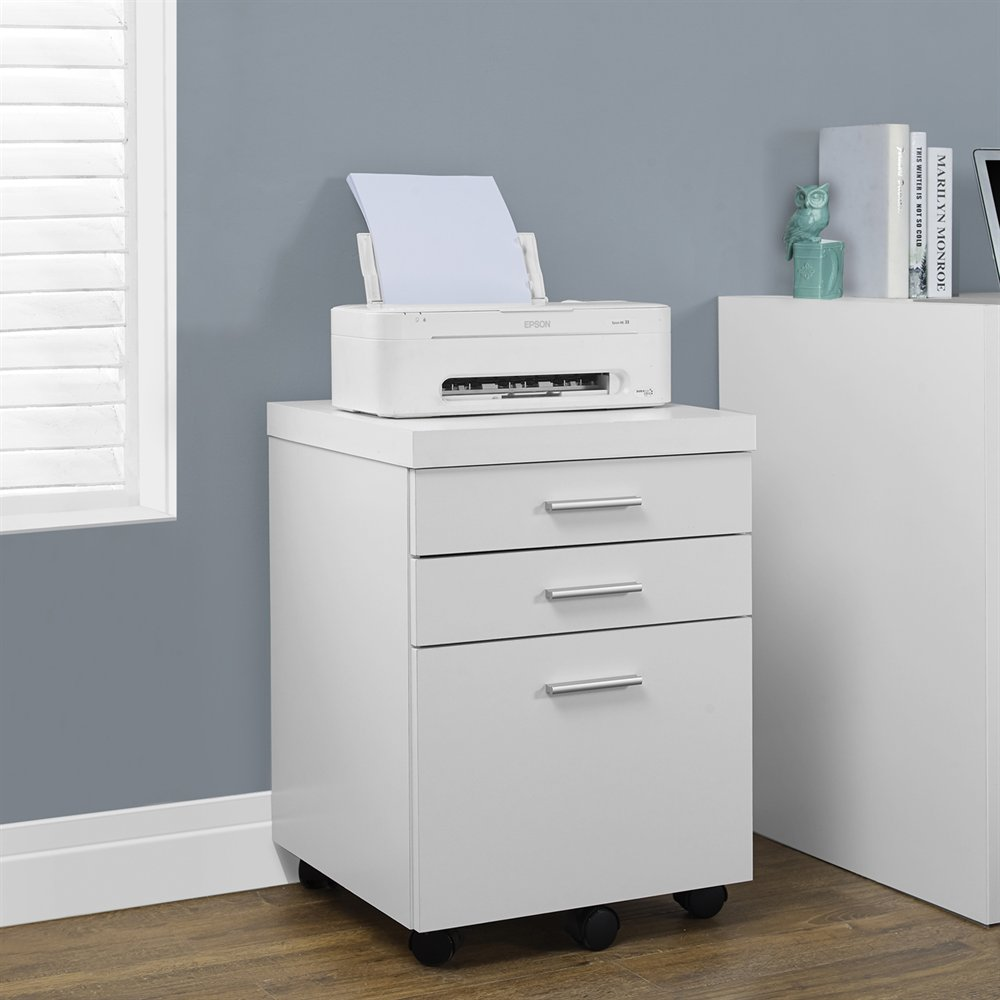 3 drawer movable file cabinet filing cabinet mobile pedestal cabinet