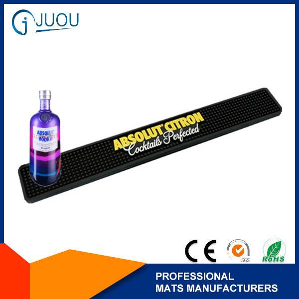 custom rubber pvc absolut vodka bar mat for wholesale wine accessories