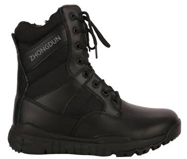 leather upper rubber sole military boot ZD110