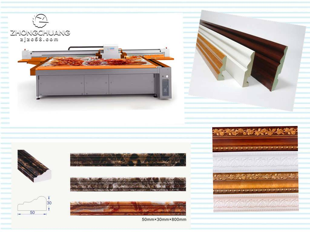 UV flatbed printer, has widely appication in the industry,such as building materials, corner line