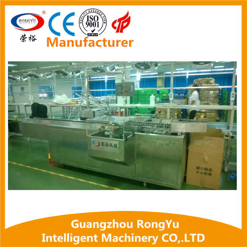 LED bulb Automatic carton box packing machine with automatic leaflet and eruohook with best price