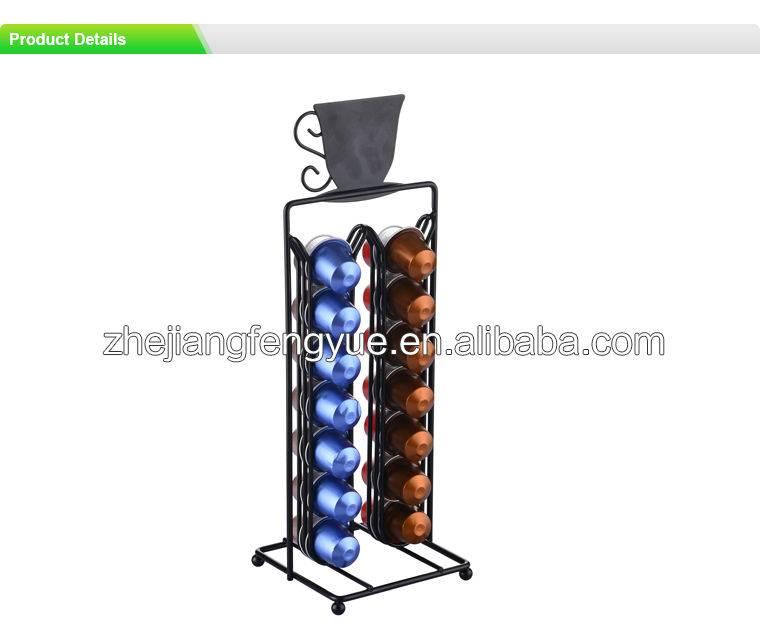 Metal wire nespresso coffee pod holder