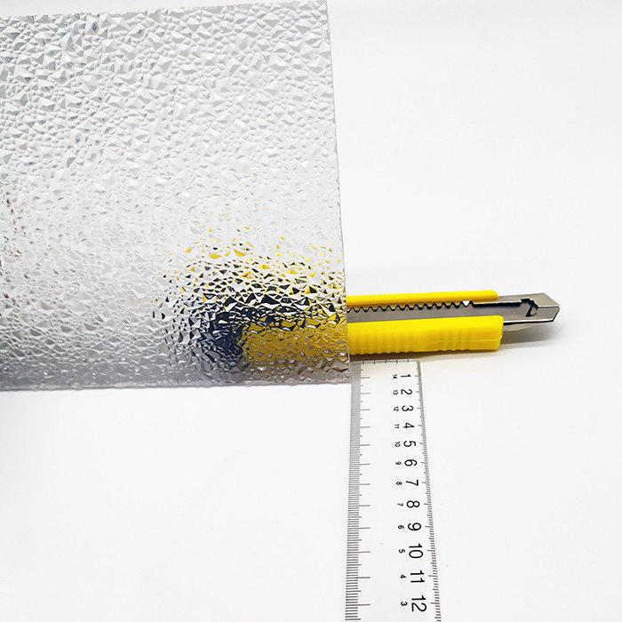 Textured polycarbonate sheet