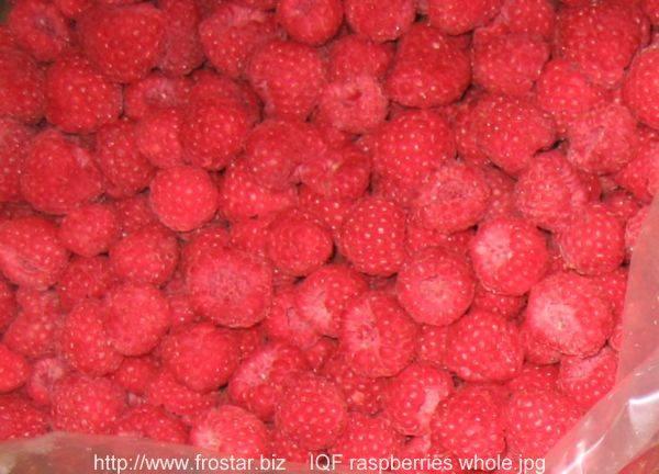 IQF raspberry, frozen raspberry
