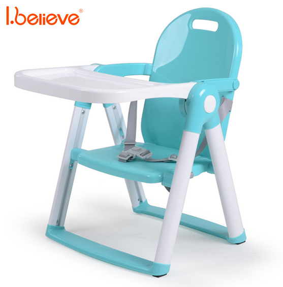 Folding Portable Highchair Booster Seat Feeding High Chair for Baby Child Dining Eating Chair