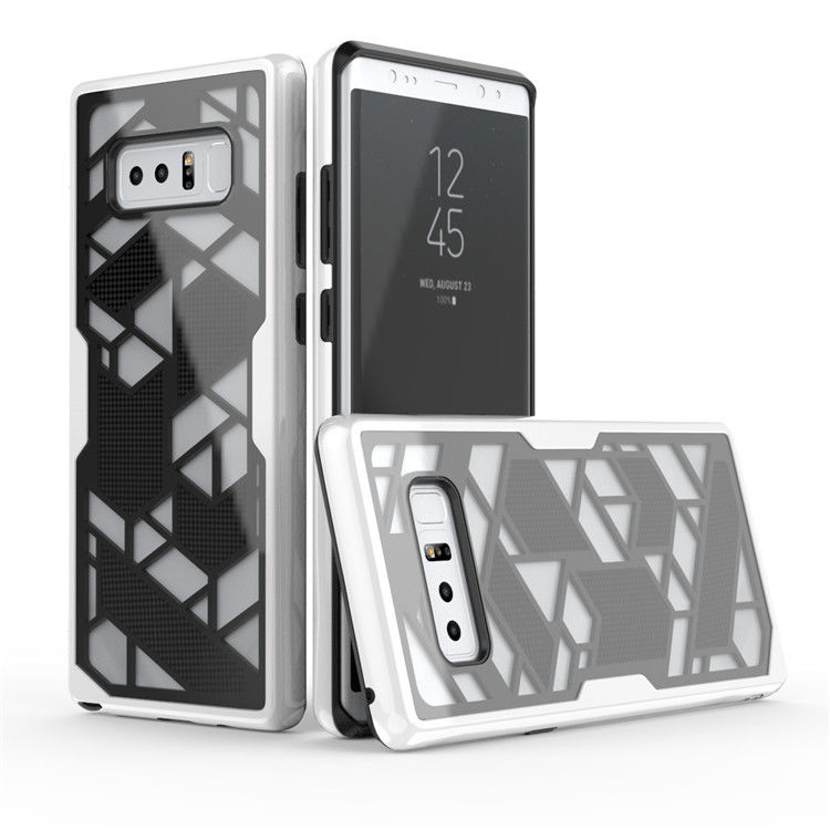 New Products Custom Hybrid Rugged PC TPU 2 In 1 Geometry Mobile Phone Cover For Galaxy Note8 S8