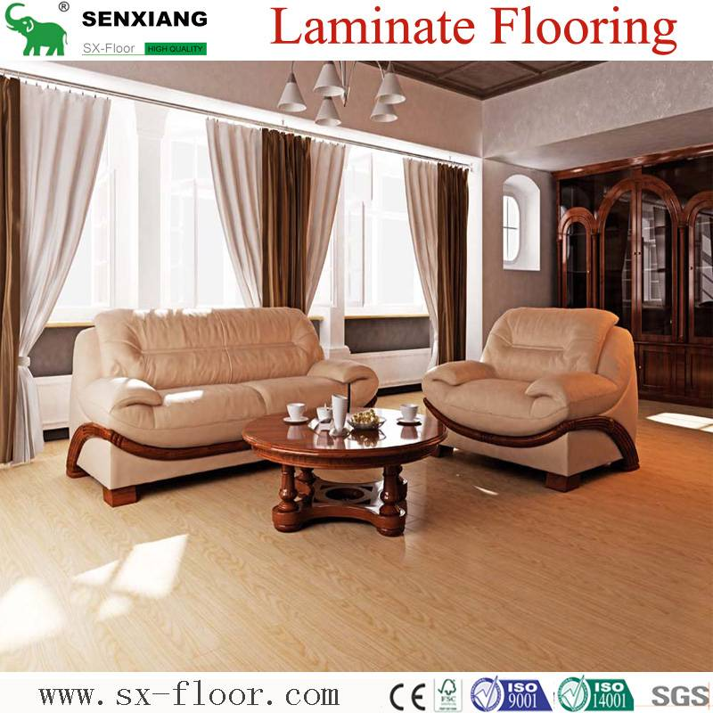 Best Price Eco-Friendly Factory Direct High Gloss Laminated wooden Flooring