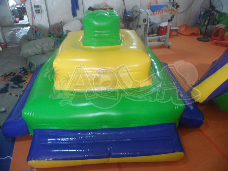 Inflatable Floating Green/Yellow Deck