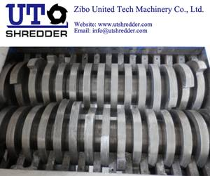 waste treatment D4280 for scrap plastic, tire, wood, metal, cable, cloth crusher