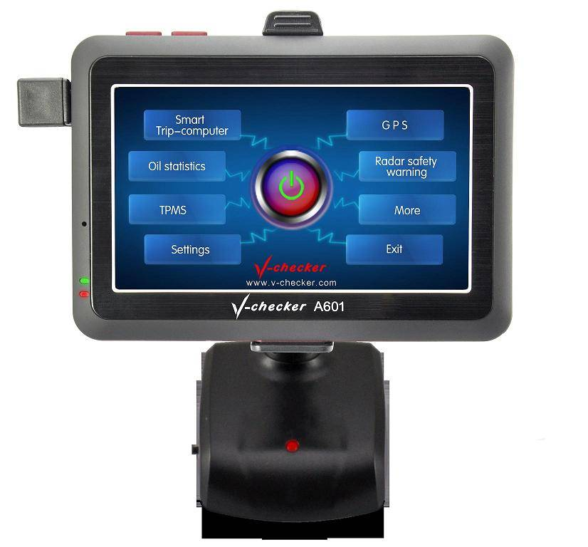 Newest OBDII Car Code Diagnostic Oil Statistics Display Water Temperature Fatigue Reminder with GPS