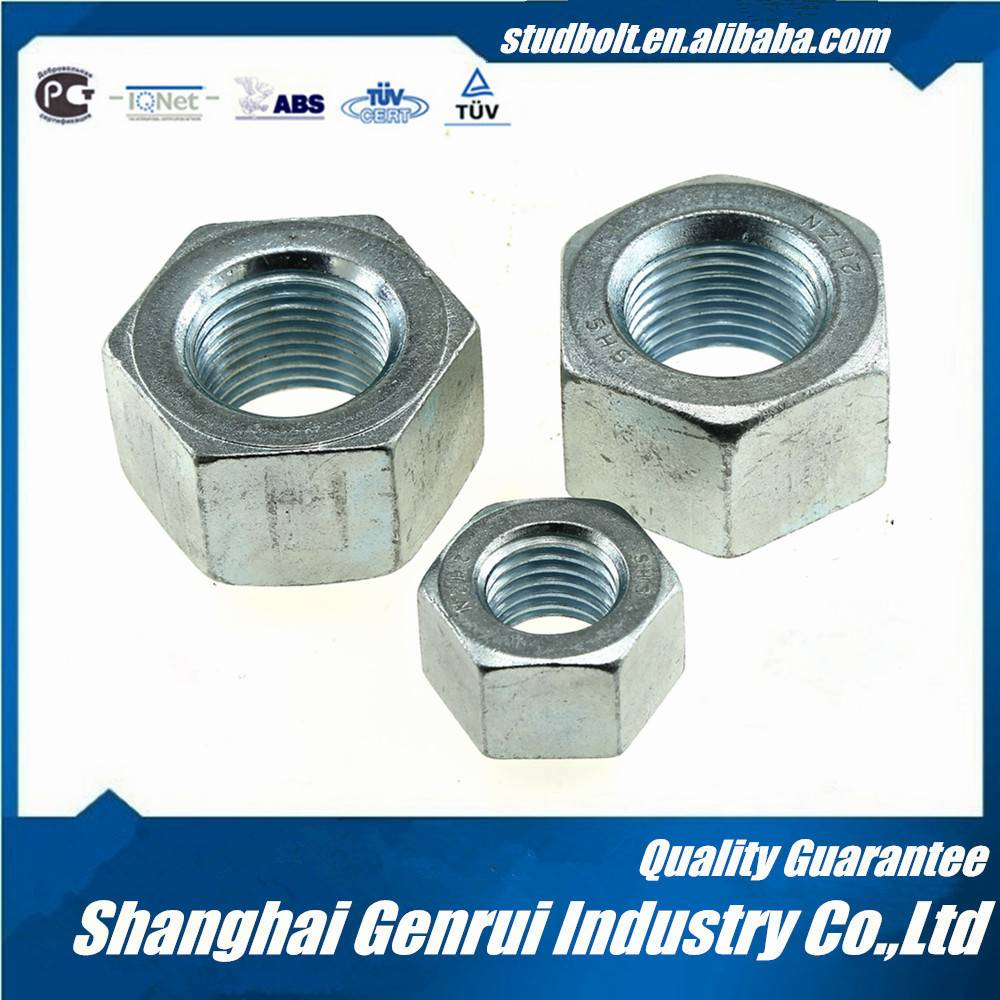 2H/2HM ASTM A194 zinc coating heavy hex nut