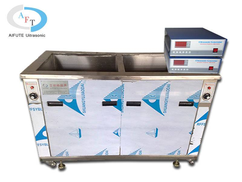Double grooves ultrasonic cleaning machine