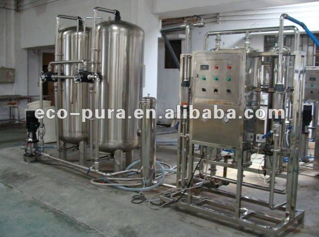 6000L/H Mineral Water Treatment System / Ultrafiltration Water Treatment Equipment