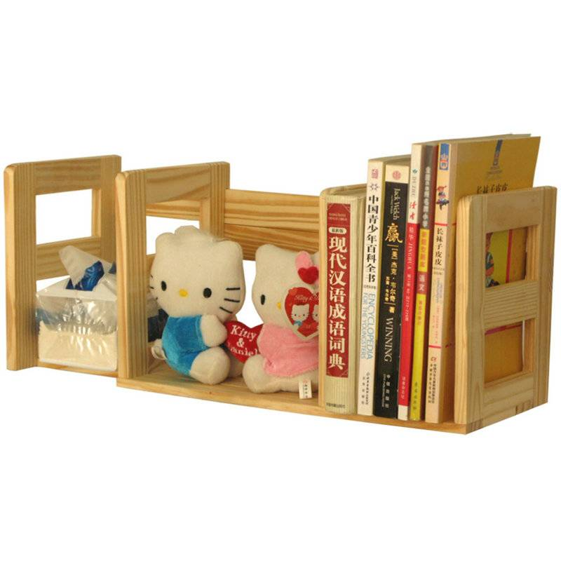 Wooden Bookshelf Tabletop Book Browser BOOKend