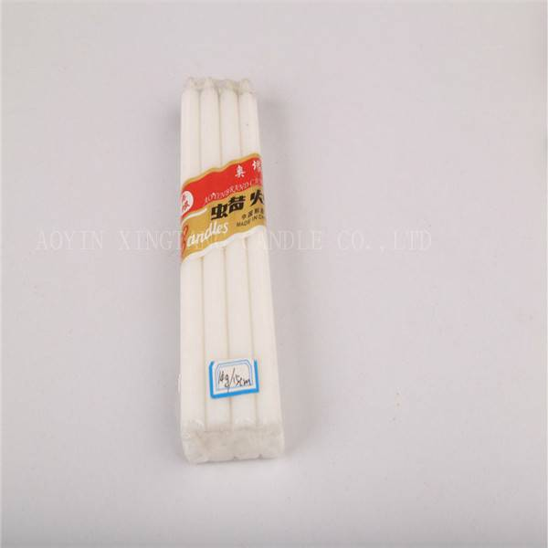 18g White wax candle making factory in china