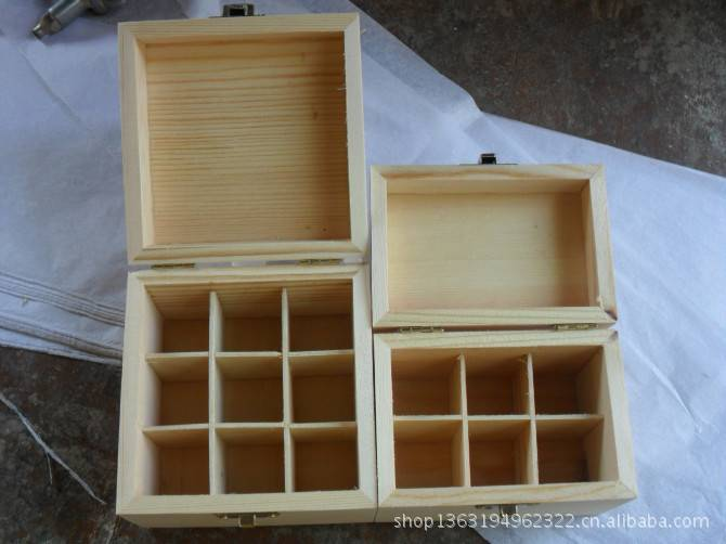 wooden gift storage box with compartment for hot sale