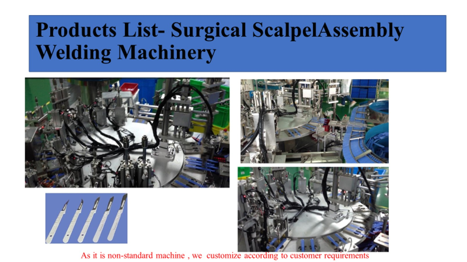 Scalpel blade automatic assembly and welding machine