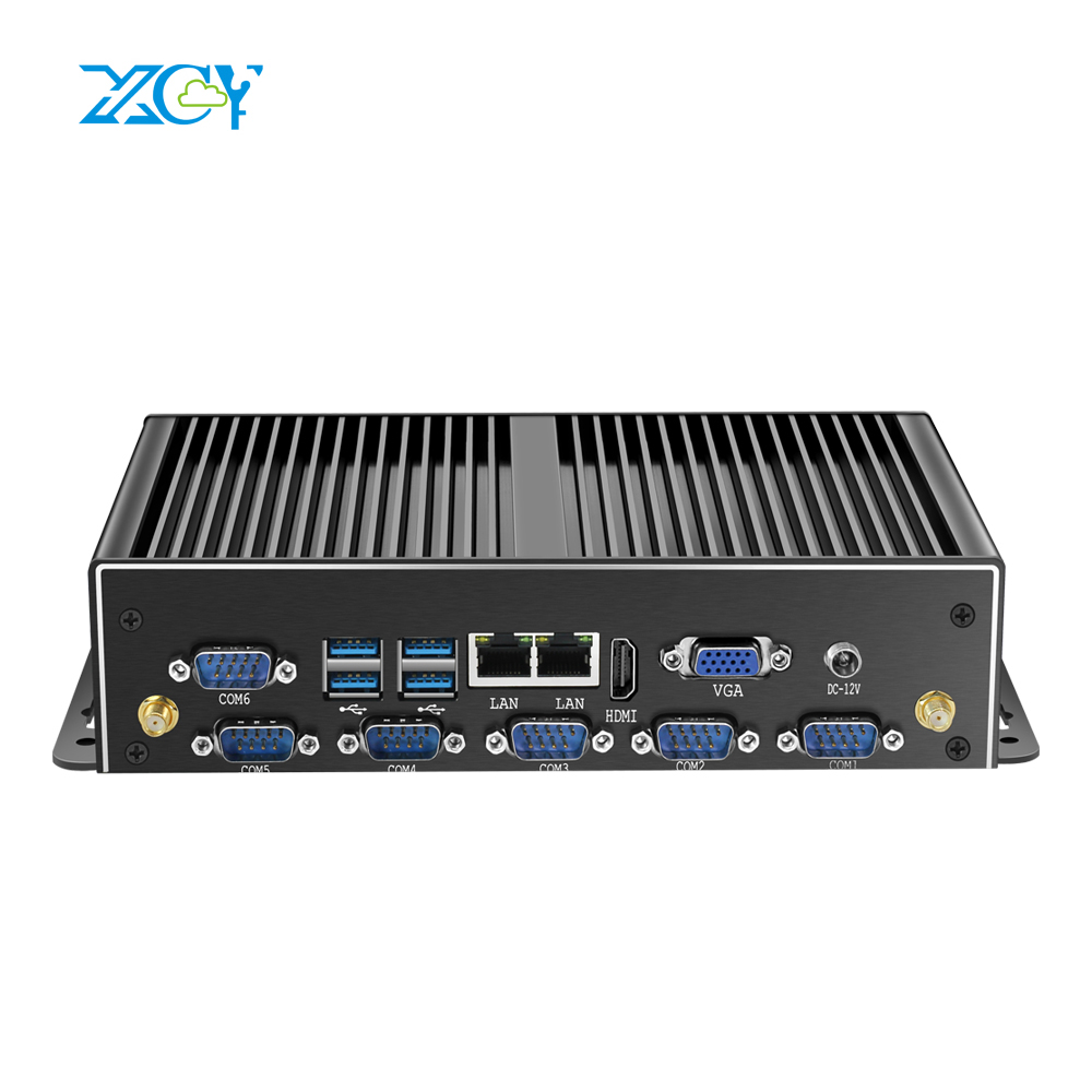 XCY htpc Intel celeron 2955U I5 I7 mini pc industrial computer dual LAN 6 COM RS485 desktop pc