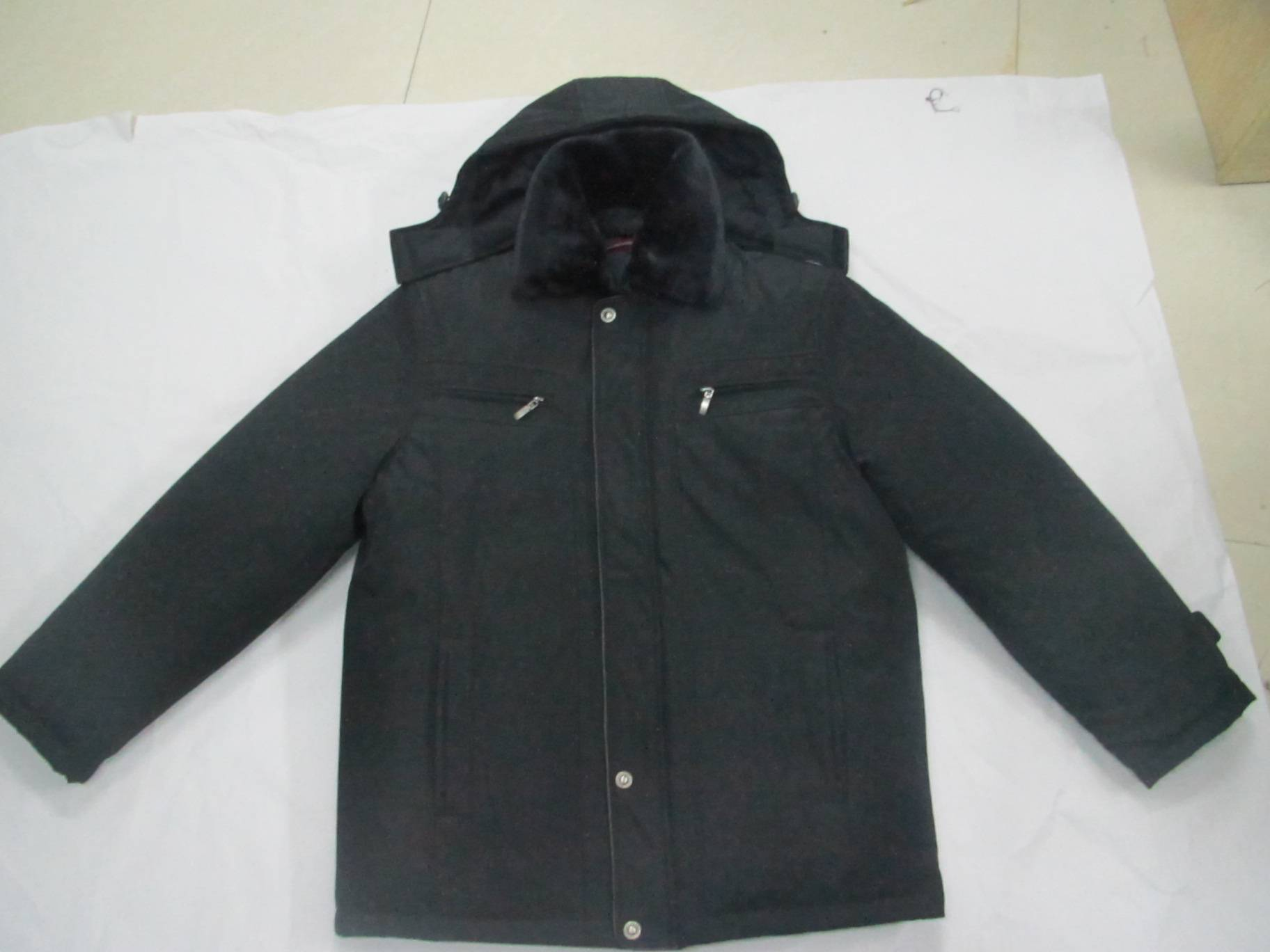double layer quilted padding jacket for old man