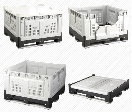 folding logistic box, pallet container