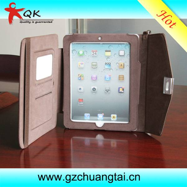 Up-market Genuine Leather ipad Leather Protective Case