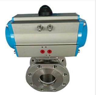 CF8M ball valve with electric actuator