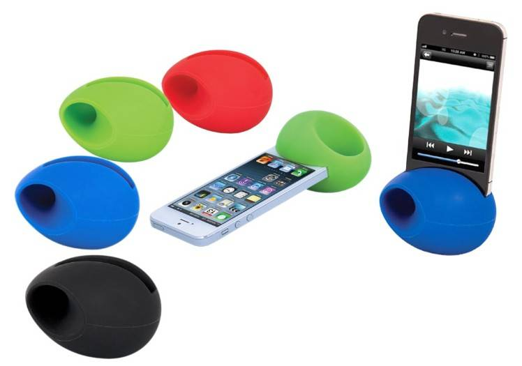 Mini portable silicone amplifier with stand for smart phone/2014 hot sale student amplifier/fashio