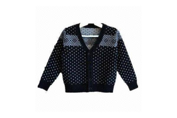Boy's cardigan, made of 100% cotton