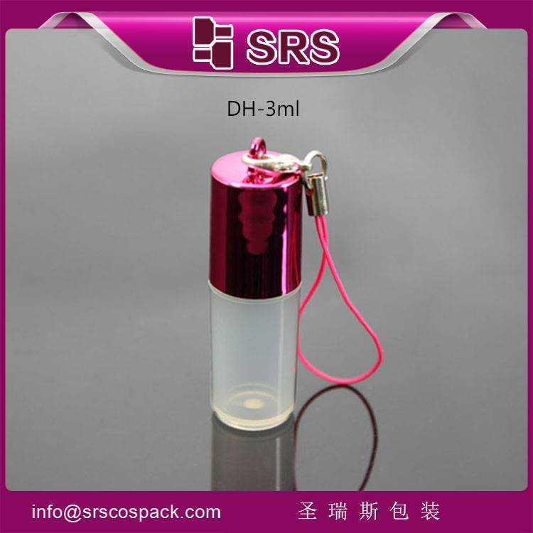 wholesale SRS cosmetic packaging transparent 3ml essential oil bottle ,roll on bottle deodorant bott