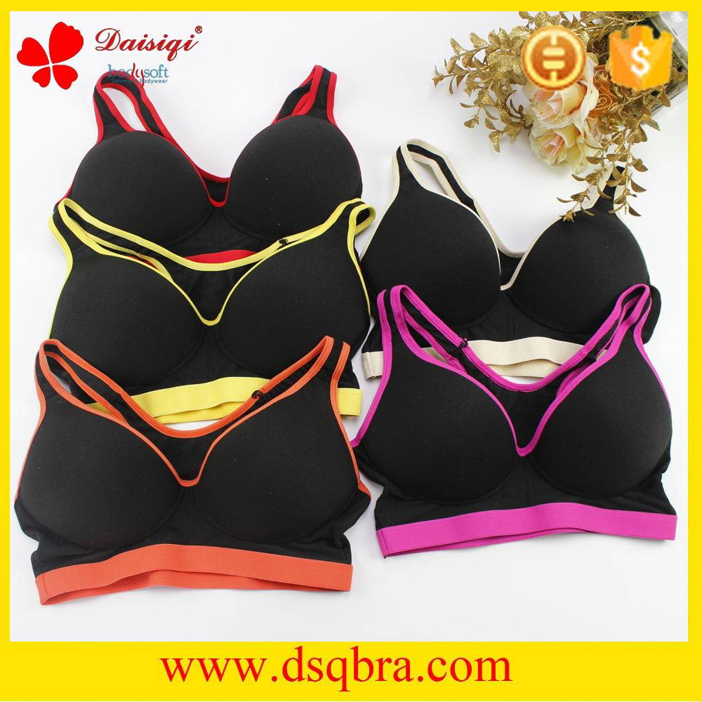 Free sample women underwear sexy bra black sports bra new design