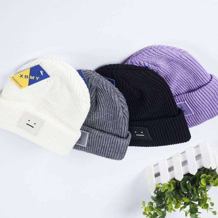 2015 Colorful Slouch Knitted Beanie Custom Beanie Hats for Winter Knitted Hat