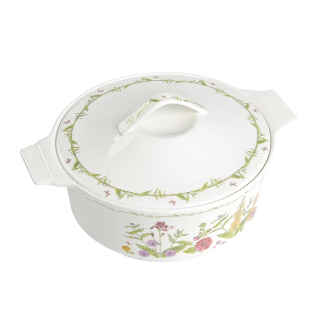 NEWLY DESIGNED PLANT FINE CHINESE CERAMICS RICE SOUP BOWL WITH LID