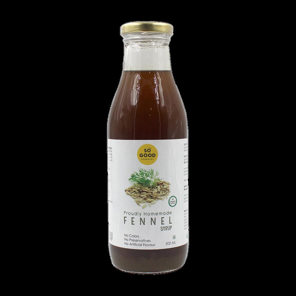 SO GOOD Organic Fennel Syrup 500ml