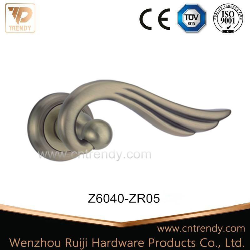 Zinc Alloy Zamak Lever Latch Rose Door Handle (Z6040-ZR03)