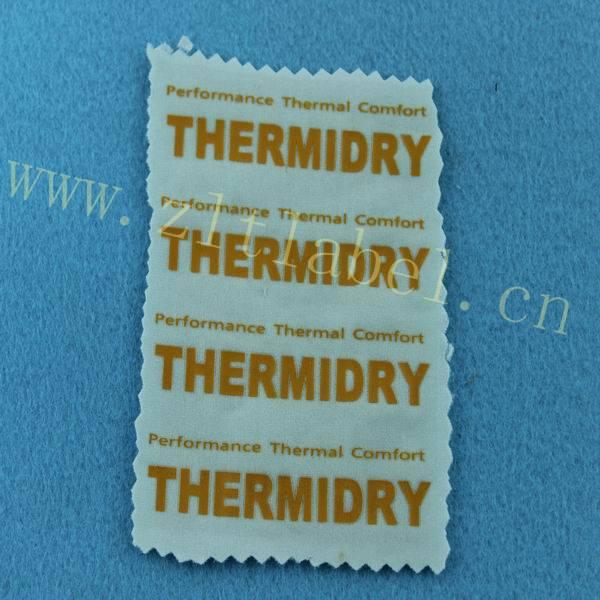 garment heat transfer label China supplier