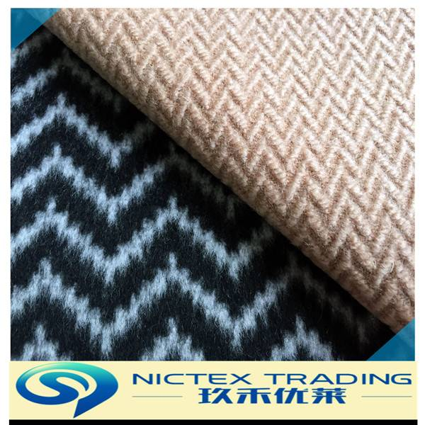 yarn dyed woven wool herringbone fabric supplier from China