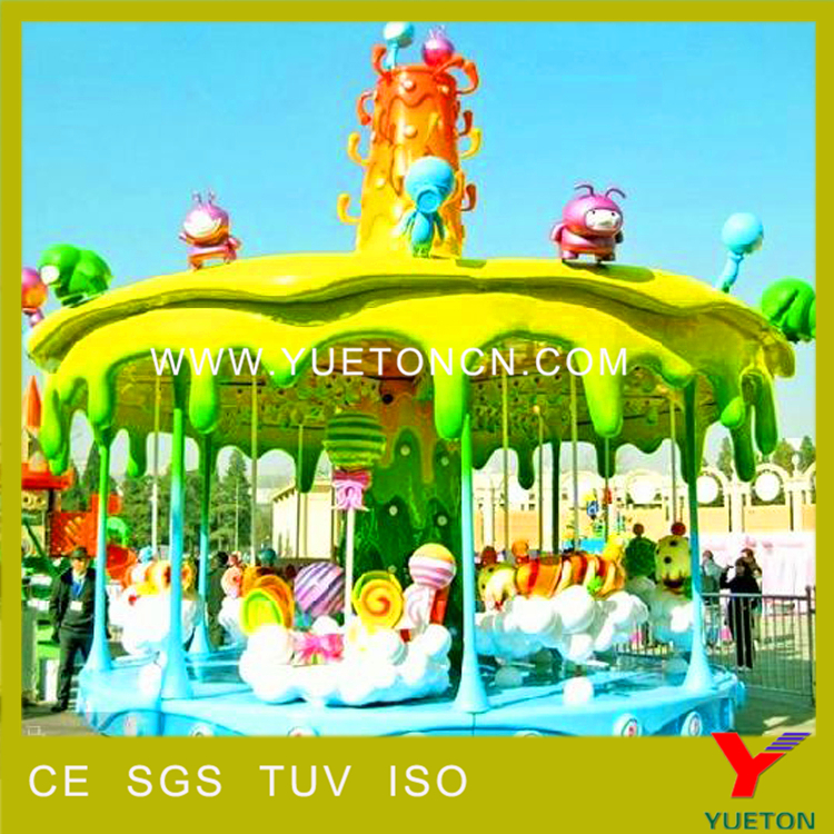 Lovely Candy Design Kids Merry Go Round For Sale Amusement Park Rides Carousel