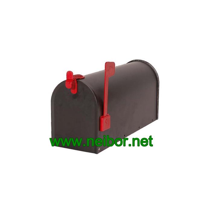 metal mailbox steel post box