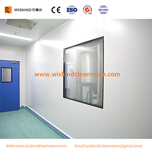 50mm Rockwool Fireproof Cleanroom Sandwich Wall Panel For Pharmaceutical