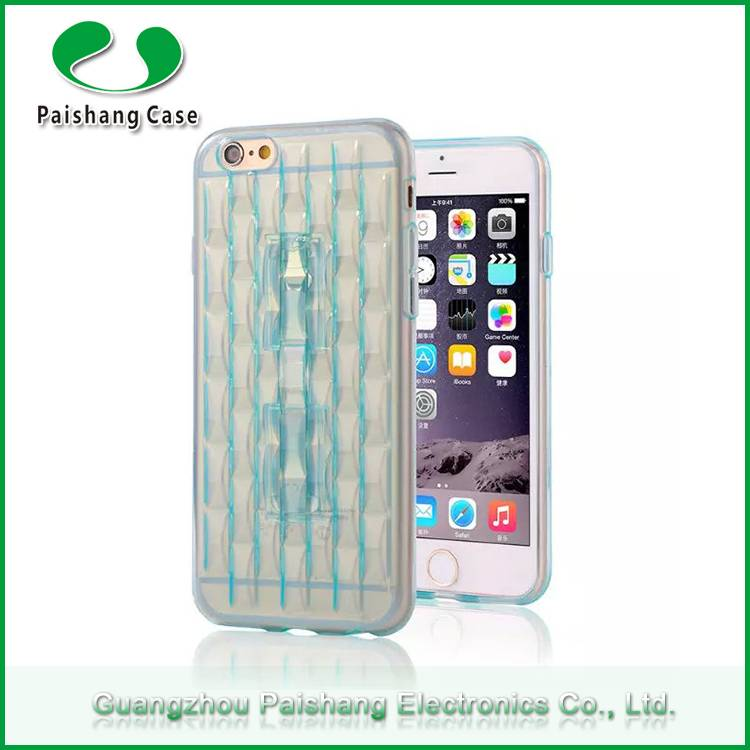 Free sample weave pattern finish slim transparent TPU cell phone case cover for Apple iphone 6 with