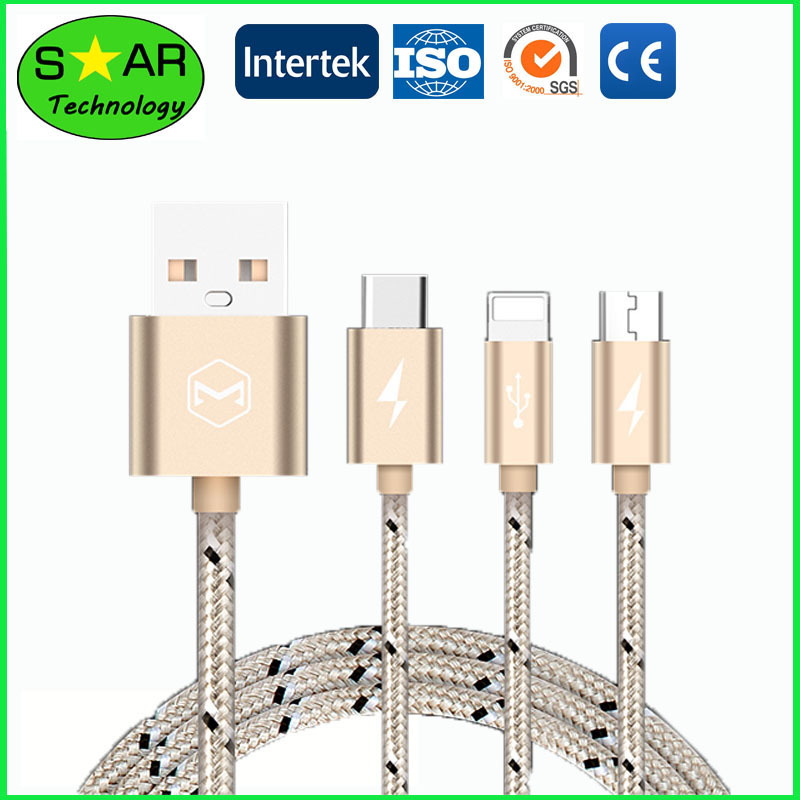 High Speed USB cable 3 in 1 Phone Cable