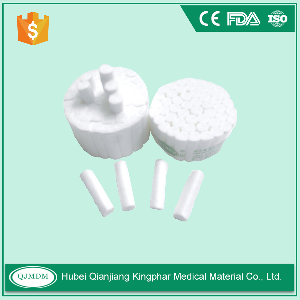 Absorbent disposable dental cotton roll