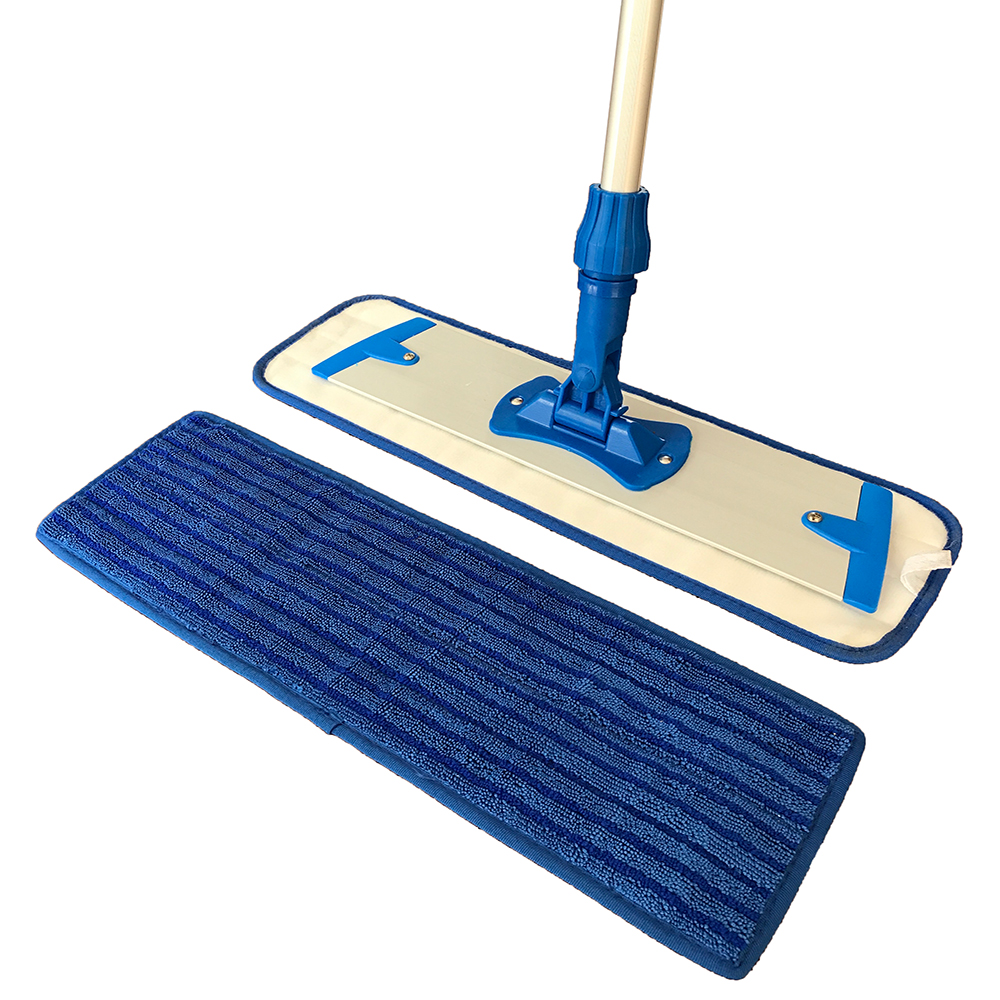 Household Cleaning China Supplier Lint-free Microfiber Flat Mop Aluminum Frame Microfiber Mop Set