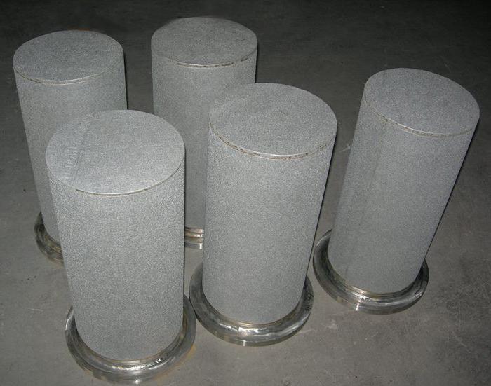 304 stainless steel sintered powder filter cartridge/element for dust removel