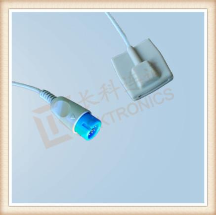 BRUKER 12 Pin Pediatric Silicone Soft Tip SpO2 Sensor