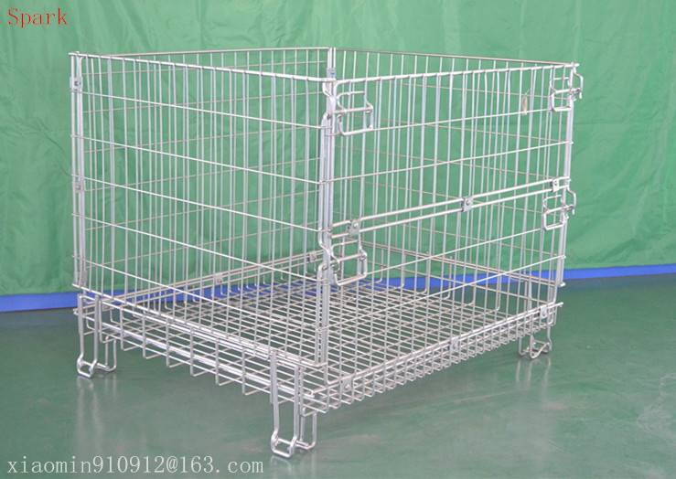 Galvanized metal wire mesh container