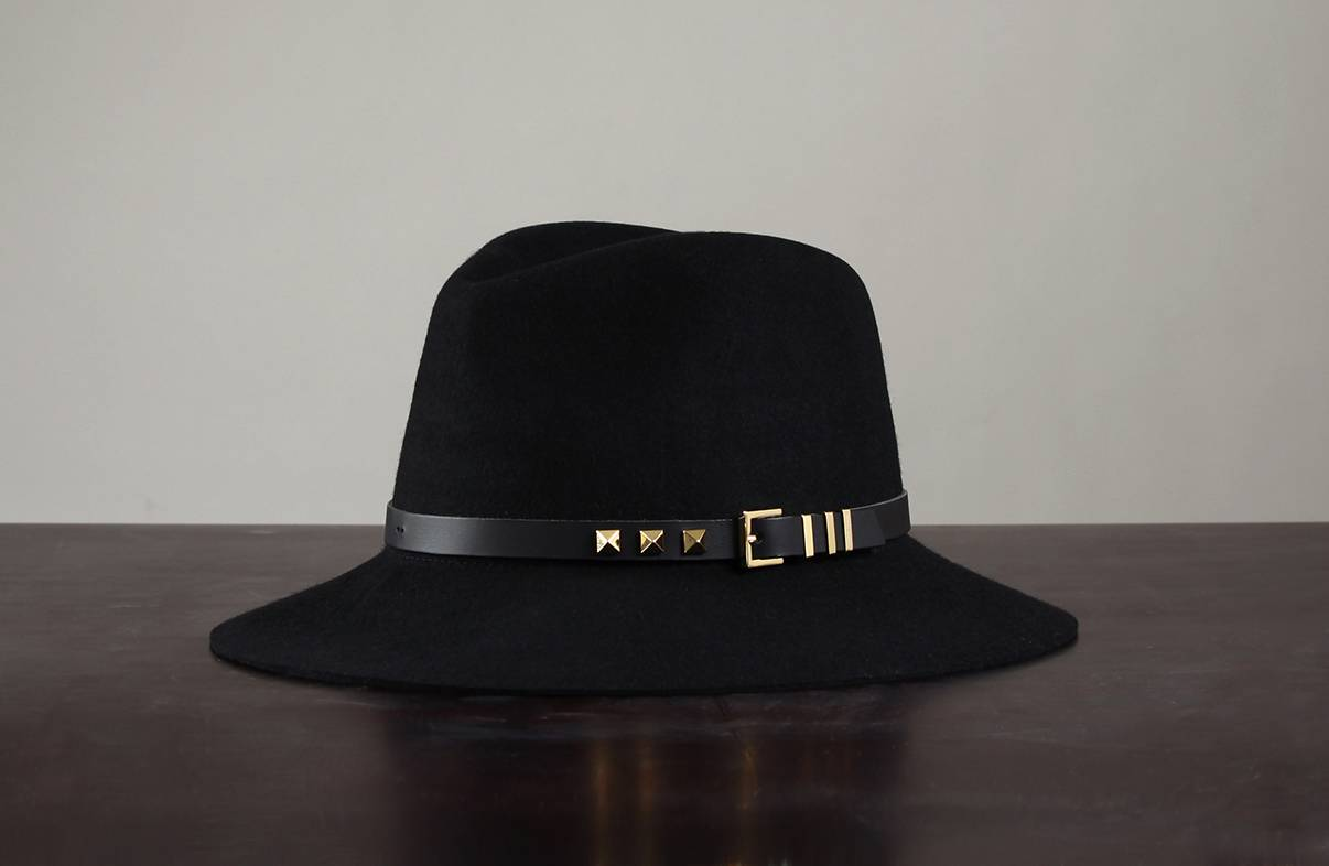 WHITE SANDS Wool Felt Hat Belt Style One Size Black