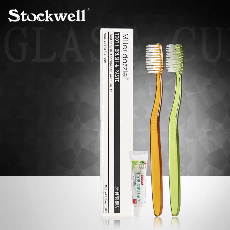 Stockwell Hotel Miller Dazzle Toothbrush With Toothpaste